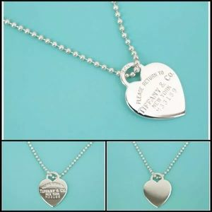 RARE Tiffany X-LARGE Heart Tag Necklace & chain